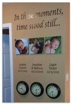 Beautiful display of photos...The most Precious and Cherished times of your life.