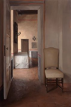 Tuscan Interior with Chair, Borgo Finocchieto by Kenny Harris(b.1974)