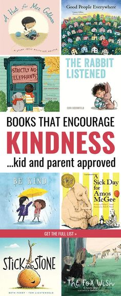Share these children's books with your kids to encourage kindness toward others. Research shows this is one of the BEST ways you can raise kind kids--by encouraging kids to consider the perspective and struggles of others. This list of picture books is perfect for toddlers, preschool, kindergarten, and older kids too. #kidlit #kidsbooks #parenting #kids Best Children Books, Childrens Books, Picture Books For Children, Best Books For Toddlers, Books For Kids, Best Toddler Books, Young Children, Books About Kindness, Preschool Books