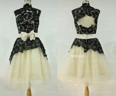 Hey, I found this really awesome Etsy listing at https://www.etsy.com/listing/165215976/black-lace-prom-dress-short-prom-dress