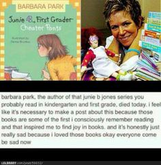 Wow... It's really sad that such a talented woman who brought joy and a love of reading to so many people is no longer with us.