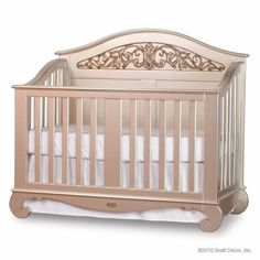 Beautiful Nursery Decor at Jack and Jill Boutique, Silver Crib