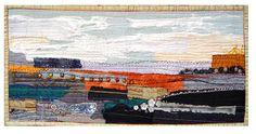 Art Quilt - Landscape in Autumn  by Bozena Wojtaszek