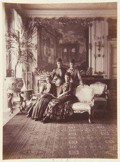 The Queen of Denmark and her Daughters 1883