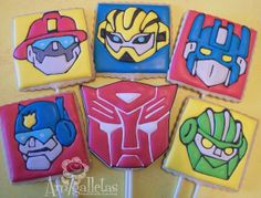 Transformers Cookies (Rescue Bots) on Etsy, $39.00
