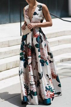Stylish Floral Print Sleeveless floral maxi dress maxi dress formal maxi dress summer maxi dress casual maxi dress for wedding guest boho maxi dress floral maxi dress Stylish Dresses, Sexy Dresses, Evening Dresses, Casual Dresses, Summer Dresses, Summer Maxi, Spring Summer, Vacation Dresses, Outfit Summer