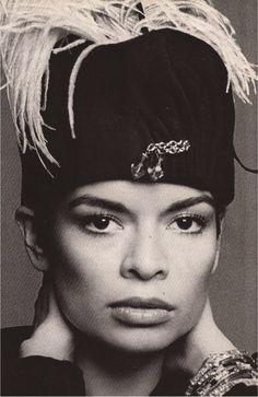 Bianca Jagger. Photo by Francesco Scavullo, c. 1970s.