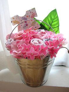 Vaso de flores com tip tops
