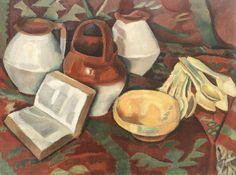 Iosif Iser (Romanian, Traditionalist Still-Life. 1916 г. Painting Still Life, Art Database, Art Archive, Be Still, Art Boards, Harlem Renaissance, Bauhaus, Painters, Artworks