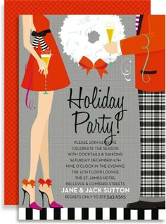 Hipster Holiday Invitation #holiday #party #invitation