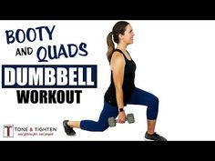 This dumbbell leg workout focuses on toning and strengthening your quads and glutes. Make those thighs and booty pop with this awesome free weight workout. Dumbbell Leg Workout, Dumbbell Squat, Leg Workouts, Free Weight Workout, Leg Circuit, Tone Thighs, Squat Position, Muscle Groups, I Work Out