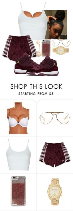 """""""August Alsina-Drugs"""" by nasza ❤ liked on Polyvore featuring CÉLINE, Topshop, adidas, LMNT and MICHAEL Michael Kors"""