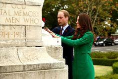 4/12/2014: War Memorial at Cambridge Town Hall, with Prince William (Cambridge, Waikato, New Zealand)