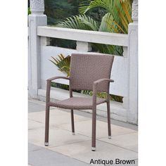 Barcelona Resin Wicker Outdoor Dining Chairs (Set of 2) | Overstock.com