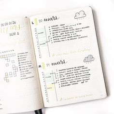 """684 Likes, 58 Comments - Ady's Bujo ⭐️ (@adybulletjournal) on Instagram: """" Monday and Tuesday in my bullet journal. I'm curious : what's your name? I'd like to know the…"""""""