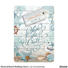 Nautical Beach Wedding | Save the Date