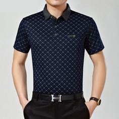 Brand Name: TIARAKASleeve Length(cm): ShortMaterial: CottonStyle: FormalPattern Type: StripedType: LooseColor Style: SolidFeature: BreathableDecoration: PocketsSale by Pack: NoGender: MenTops Type: PolosTops Type: PolosGender: MenNO: 0639 Camisa Polo, Style Casual, Men Casual, Moda Junior, Slim Fit Polo Shirts, Men Store, Loose Shorts, Branded Shirts, Fashion Tips For Women