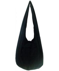 14baae2e06 Rare Asian East Hippie Hobo Cotton Sling Cross-body Handmade Asia Black  Thai Pattern Bag Shoulder Purse - C411M4LAVLH
