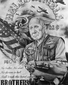 Harley Tattoos, Biker Tattoos, Biker Clubs, Motorcycle Clubs, Motorcycle Garage, Harley Davidson Engines, Harley Davidson Bikes, Sonny Barger, David Mann Art