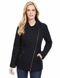 My M&S Collection Quilted Biker Coat - Marks & Spencer