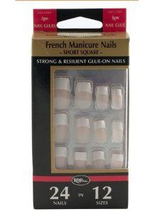 Royal 24 French Manicure Nails - Short Square by Royal - Pedicure N Manicure - £2.99 - http://www.pedicurenmanicure.com/royal-24-french-manicure-nails-short-square/