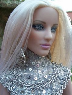 """""""Silver: Jacqueline Frost in Hypnotic"""" submitted by Emma, new to dollduels.com #dollchat ^kv"""