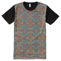 Abstract colorful hand drawn curly pattern design All-Over-Print shirt