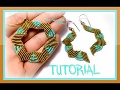 Tutorial Earrings / Pendant LOTUS Flower Micro Macrame - Super Lon Thread and Beads Seed Beads