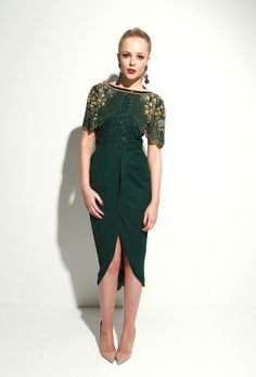 Nicola Green Dress by Virgos Lounge