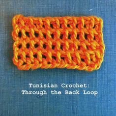Tunisian Crochet, through the Back Loop   Flickr - Photo Sharing!