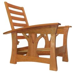 My custom designed Morris chair in Cherry.By Brian Brace Fine Furniture Maker in Black Mountain,NC. Arts And Crafts Furniture, Handmade Furniture, Fine Furniture, Furniture Projects, Wood Furniture, Craftsman Style Furniture, Mission Style Furniture, Woodworking Outdoor Furniture, Fine Woodworking