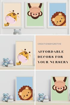 Are you looking for an easy, affordable and convienient way of finding that perfect decor for your kid's room then you are in the right place. Many styles from minimalist decor lover to colorful and creative. #kidsroomdecor #nurserywallart #homedecor #classroomdecor #playroomprint Kids Room Paint, Kids Room Wall Art, Room Art, Nursery Wall Art, Nursery Decor, Giraffe Nursery, Safari Nursery, Nursery Prints, Playroom Printables