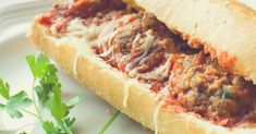 A wonderful hot sandwich for a satisfying lunch! A French Baguette filled with home made meatballs and pasta sauce and topped with melted cheese. Baguette, Chipotle Sauce, Beef Recipes, Cooking Recipes, Healthy Recipes, Yummy Recipes, Tasty Meals, Tofu, Sandwich Recipes