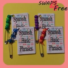 Spanish Basic Phrases Booklet Girl Scout SWAPS Free Printable Thinking Day #girlscoutswaps