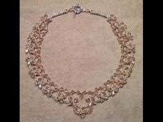Tutorial: beaded collar necklace with pearls / Колье из бисера и бусин (мастер-класс) - YouTube
