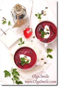 Zupa krem z buraków - przepis   Kulinarne przepisy Olgi Smile