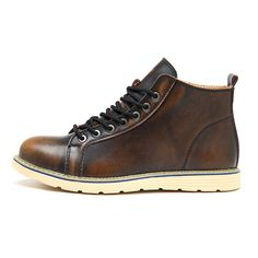 1ef0d2aa06c069 John TevesMens Shoes · Large Size Vintage Color Match Ankle High Top  Leather British Style Boots Slipper Sandals