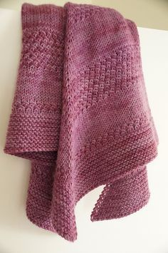 Free Pattern: Textured shawl by orlane More