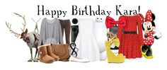 """""""Happy Birthday Kara!"""" by tallybow ❤ liked on Polyvore featuring Joe's Jeans, Victoria's Secret, Chloé, UGG Australia, Giles & Brother, Yves Saint Laurent, Alice + Olivia, Anne Klein, Jewel Exclusive and ALDO"""