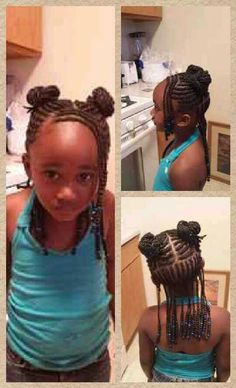 Easy cornrows braids and beads Easy cornrows braids and beads Lil Girl Hairstyles, Natural Hairstyles For Kids, Kids Braided Hairstyles, Cool Hairstyles, Toddler Hairstyles, Little Girl Braids, Braids For Kids, Girls Braids, Braids For Long Hair