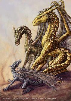 Three Dragons by Wardem.deviantart.com on @DeviantArt