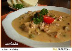 Vepřové bratislavské plecko recept - TopRecepty.cz Cheeseburger Chowder, Thai Red Curry, Stew, Pork, Food And Drink, Treats, Cooking, Ethnic Recipes, Ds