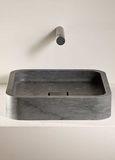 Counter-top natural stone wash basin, Petra Every Le Cave series' basin has waste plug covered in stone. Discover the Bardiglio version. Natural Stone Bathroom, Natural Stones, Wash Basin Counter, Sink, Stone Basin, Counter Design, Plumbing Fixtures, Countertops, House Design