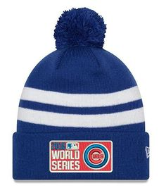 ae98a0138 Chicago Cubs 2016 World Series Royal Cuff Pom Knit By New Era. Mlb ...