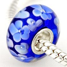 1 Piece 2014 New Arrival 3D Flower Lampwork Glass Beads Fits Pandora Charms Bracelets Necklace DIY Jewelry LGB011