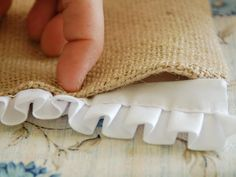 Cut pleated trim to exact width of runner.