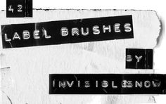 Label Brushes by InvisibleSnow.deviantart.com