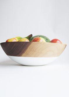 """15"""" Extra Large Wooden Fruit Bowl, Walnut Wood"""