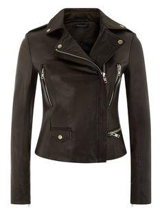 Vila Black Cropped Leather Biker Jacket www.muubaa.com #Muubaa #AW15