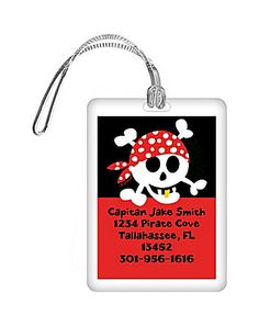 Pirate Birthday Personalized Luggage Tag